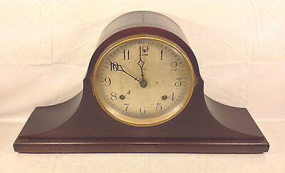 Antique Ansonia Tambour Mantel Clock Runs? Bim Bam Strike