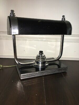 Markel Art Deco Machine Age Chrome Desk Lamp Eames Era