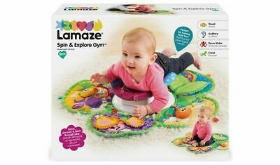 Lamaze Spin & Explore Garden Baby Gym Play Mat Tummy Time Infant