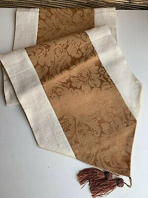 Table Runner Length Is 186 Cm From Point 2 Point.35 Cm Wide. Fully Backed.Tasels