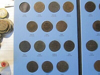 1859-1920 Canada LARGE CENTS Coins Collection – 41 Coins  VG-VF Cond  Lot# 70-52