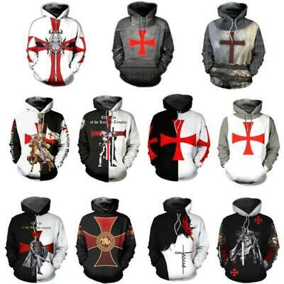 Medieval Crusades Cross Mens Shirt Pick Size Color Small 6X S//S L//S Sleeveless