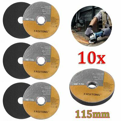 "10 x 115mm Cutting Discs Wheel Thin Angle Grinder Cut Off 4.5"" Metal Steel Flap"