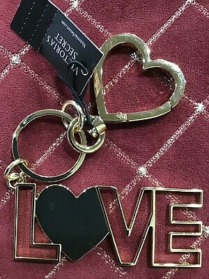 Victorias Secret LOVE Keychain Key Heart Ring New Super Cute!!!