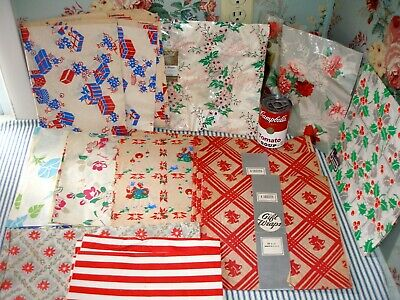 Large Lot 1930's-1950's Vintage Wrapping Paper, Christmas!