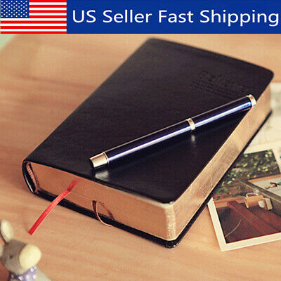 1Pc Retro Notebook Journal Diary Sketchbook Leather Cover Thick Blank Paes