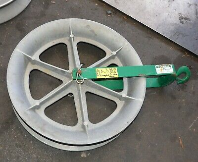 """GREENLEE 653 24"""" 610mm Hook-Type Cable Sheave 4000LBS Max Capacity"""