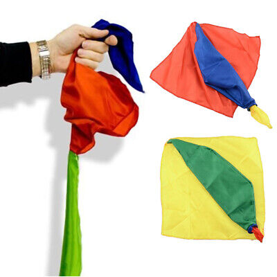 4 Colors Changing Silk Scalf Hanky Stage Kids Magic Trick Prop