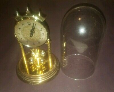 BENCHMARK QUARTZ W 993 S.HALLER  ANNIVERSARY DOME GLASS CLOCK Germany made.