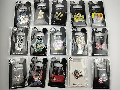 Disney Pin Trading 15 Assorted Pin Lot - Brand NEW Pins - No Doubles - Tradable