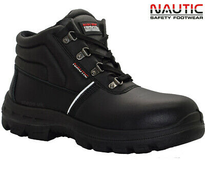 Mens Leather Chukka Safety Boots Steel Toe Cap Lightweight Work Boots Shoes Sz
