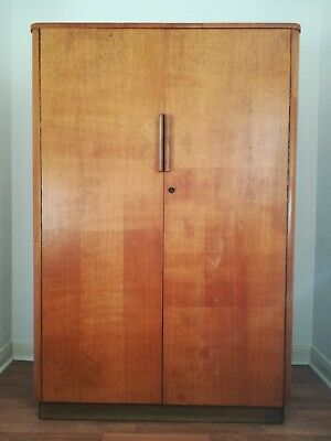 Art Deco United Up Works Oak Wardrobe