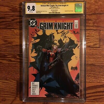 DC Batman Who Laughs Grim Knight 1 KRS Tan Signed Variant CGC 9.8 McFarlane