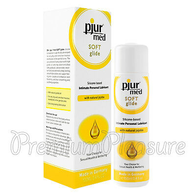 pjur med SOFT Glide lubricant Silicone based lube with Natural jojoba 100 ml