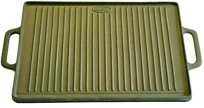 Big Traditional Cast Iron Plate , BBQ , Grill 35cm x 50cm Cook Whithout Fat