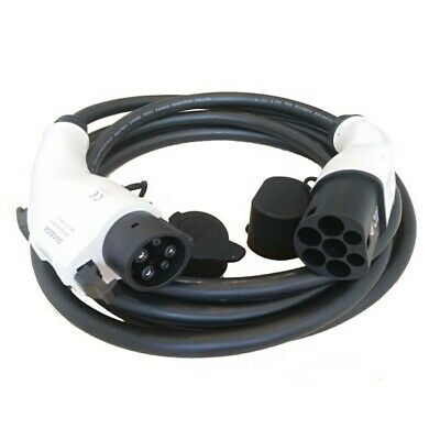 Type 1 to Type 2 EV Charging Cable 32A 5m with Heavy Duty Cable Bag