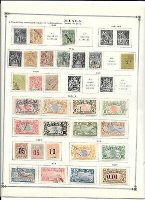 Early Classic Reunion  French Colony Postage Stamp Collection