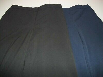Lot of 2 Briggs New York Women's black/blue Elastic Waist Pants, Size 12
