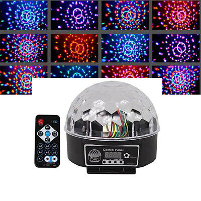 RGB Disco DJ Stage Light DMX512 LED Home Club Party Crystal Ball Effect Lamp New