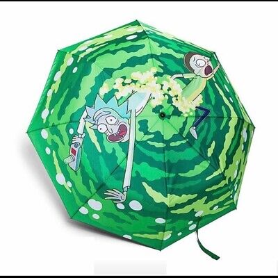 Rick And Morty TV Animation Foldable Umbrella Home Rain Cover Great Gift New