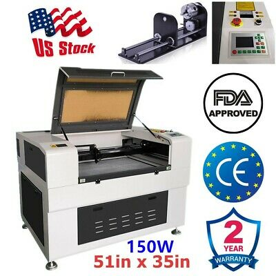 US Stock 51 x 35in 150W CO2 Laser Cutter Cutting Machine Auto-focus Function FDA
