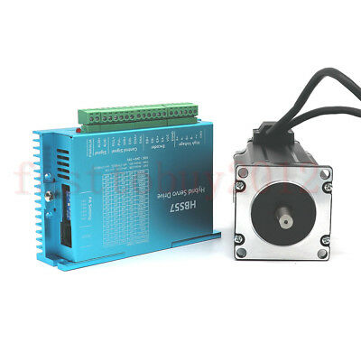CNC Router Nema23 Closed Loop Stepper Motor 428Oz-in 3NM&Hybrid Servo Driver Kit