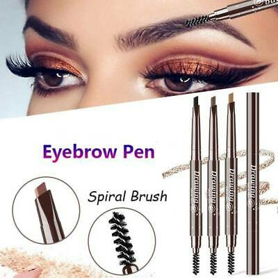 1Pc Long Lasting Double Ended Eyebrow Pencil With Brush Waterproof Rotatable
