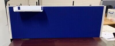 office desk table partition  divider blue with fitting 140cm length