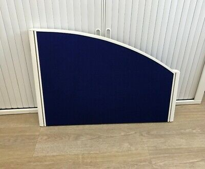 side office desk table partition  divider blue with fitting  68cm length