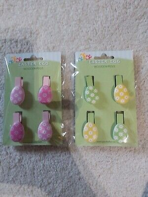 EASTER EGG CRAFT PEGS 2 packs of 4