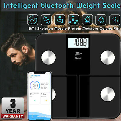 Bluetooth Bathroom Scales Digital BMI Body Fat Analyser Body Weighing Scale 8in1