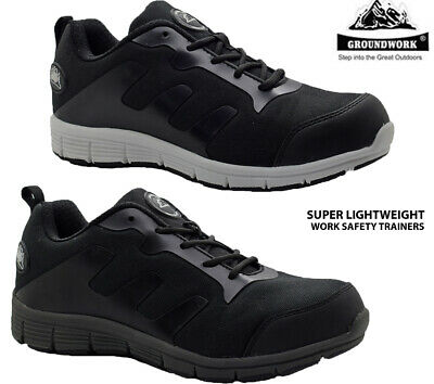 Womens Groundwork Safety Shoes Steel Toe Cap Ladies Work Boots Trainers Shoes Sz