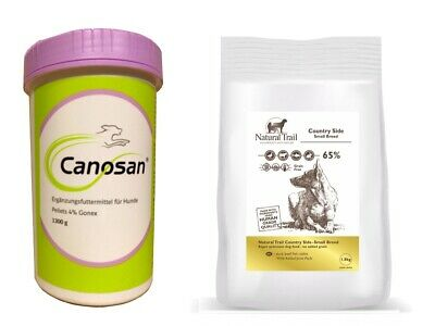 1,3kg  Canosan 4% Pellets + 2kg Natural Trail Country Side Small Breed