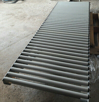 600mm WIDE X 2m LONG SECTIONS OF 30mm DIA GRAVITY ROLLER TRACK USED