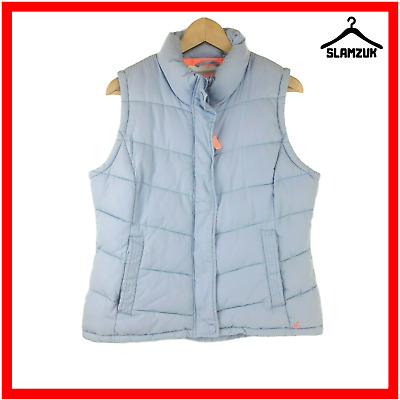 Joules Womens Quilted Padded Gilet Eastleigh Light Blue UK 16 / XL Bodywarmer