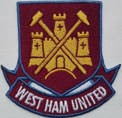 West Ham United FC iron on/ Sew on embroidered Crest Patch