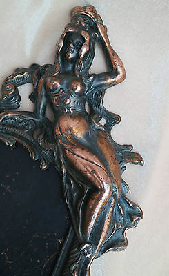 RARE Art Nouveau Sexy Erotic Nude Maiden Photo Beatrice PATINA Registered Frame