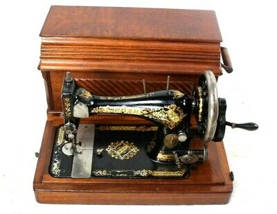 Antique Singer 28K Hand Crank Sewing Machine c1898 [5778]