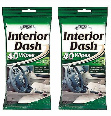 2 Pack Car Pride Interior Dash Cleaner Wipes Car Dashboard Cleaner 40 Wipes pack