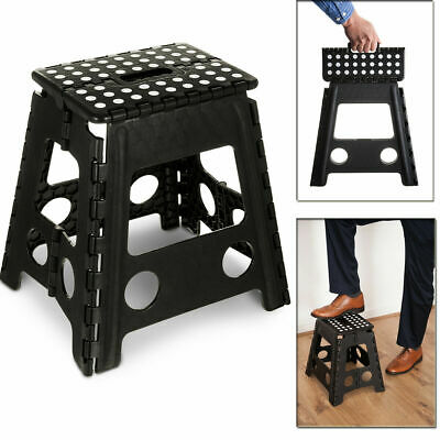 Large Multi-Purpose Fold Step Stool Plastic Home Kitchen Foldable Easy Assorted