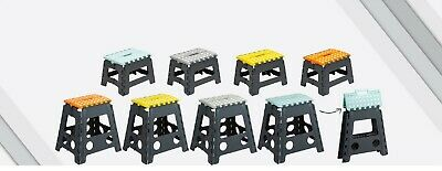 Heavy Duty Strong Small Large Non Slip Durable Folding Step Stool Assorted Color