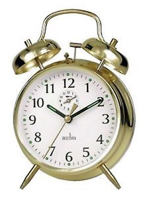 Acctim Large - Bell Alarm Clock (Spring Wound) Brass With Metal Case