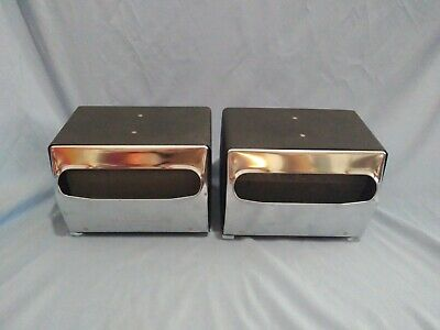 Pair or Georgia-Pacific Mornap Double Sided Napkin Dispensers