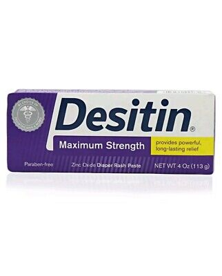 (3 pack) DESITIN MAXIMUM STRENGTH ZINC OXIDE DIAPER RASH PASTE 4OZ