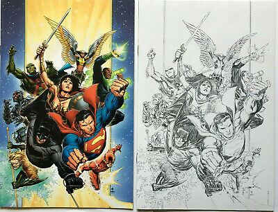 JUSTICE LEAGUE 1 JIM CHEUNG 1:100 SKETCH VARIANT NM