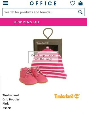 Worn once Baby Girls pink Timberland boots new hat set size 1.5 1 half infant 17