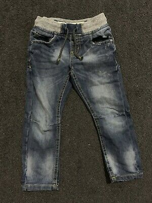 Boys Pull On Blue Jeans Age 3-4