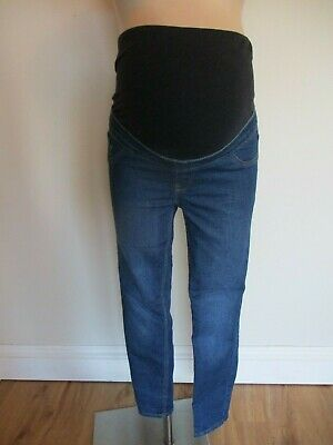 New Look Emilee Maternity Blue Over Bump Skinny Jeggings Jeans Size 10