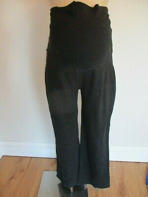 Red Herring Maternity Black Over Bump Casual Lounge Trousers Size 14
