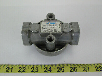 Vickers Filter Housing OFRS 15 P-10-10 10 PSID By-Pass 100 PSI Max Oper Press